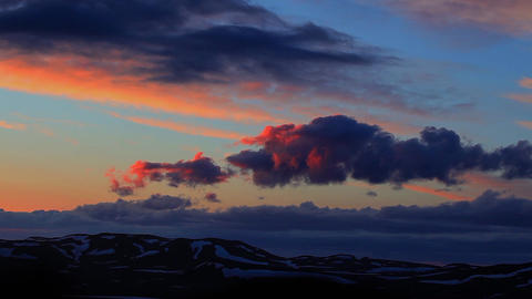 Sunset At Snaefellsjoekull In Iceland stock footage