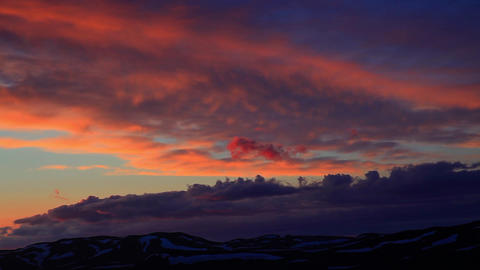 sunset at Snaefellsjoekull in Iceland Footage