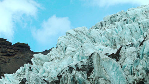 Fragmented ice formations on an Icelandic glacier Footage