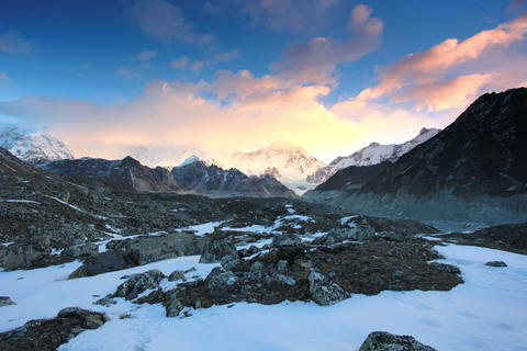 4K. Timelapse Sunrise In The Mountains Cho Oyu, Hi stock footage