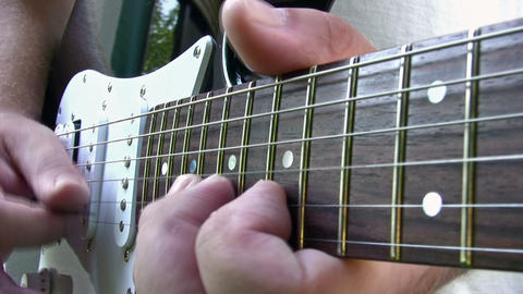 Solo Guitar Close Up stock footage