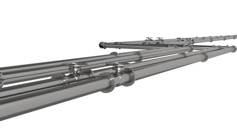 Steel Pipeline Animation