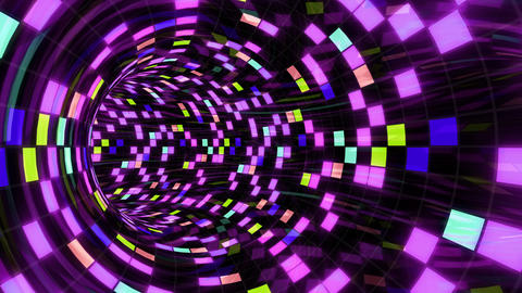 Disco Dance Tunnel E 01 4k Animation