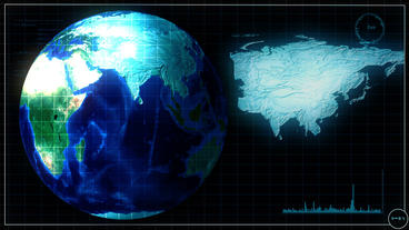 earth scan of globe Animation