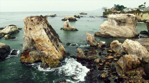 Rocky Coastline in Shell Beach Footage