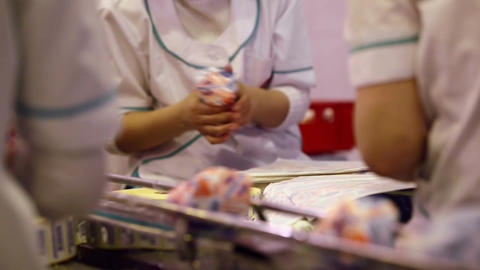 Packing of ice-cream at the food factory Animation