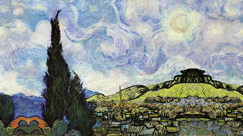 Timelapse The Starry Night Live Action
