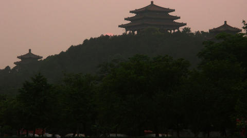 Timelapse Beijing Temple stock footage
