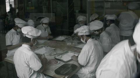 Timelapse Beijing Dumpling Stall stock footage