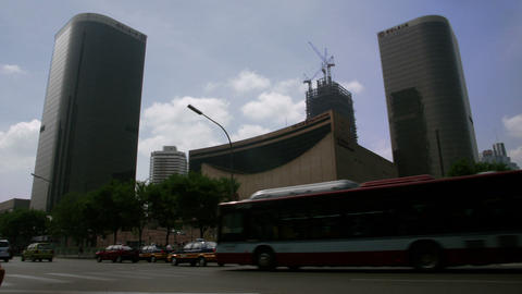 Timelapse China World Trade Centre Live Action