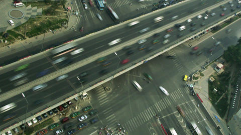 Timelapse Beijing intersection Footage
