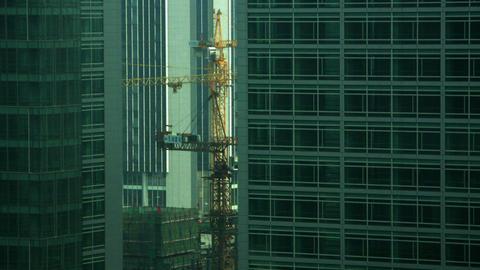 Timelapse construction cranes Live Action