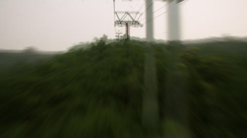 Timelapse cable car ride Live Action