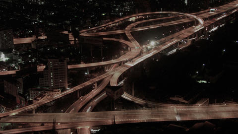 Timelapse Bangkok freeway Live Action