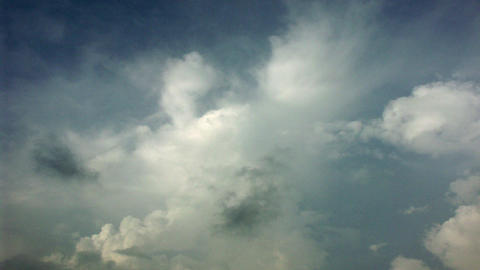 Timelapse Sunny Clouds stock footage