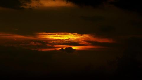 Timelapse vibrant sunset Footage