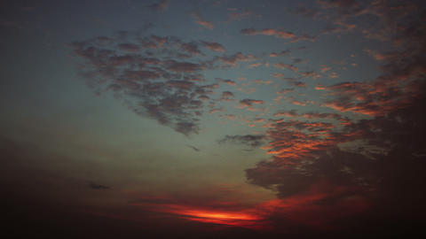 Timelapse red sunset Footage