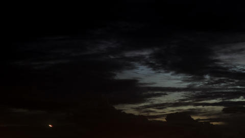 Timelapse clouds dusk Footage