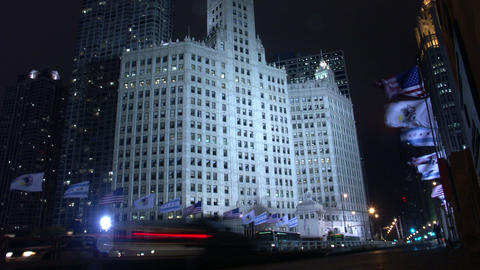 Timelapse Wrigley Building Footage