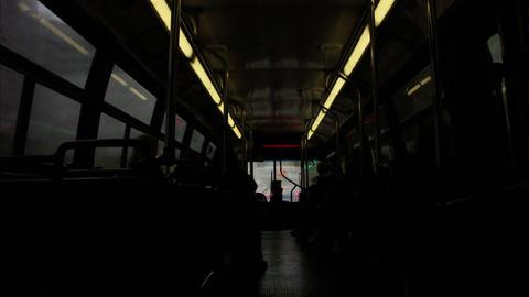 Timelapse bus interior Footage