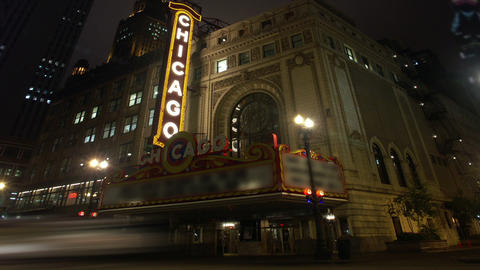 Timelapse Chicago Theater Footage
