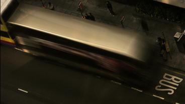 Timelapse bus stop Footage