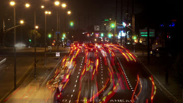 Timelapse intersection traffic Footage