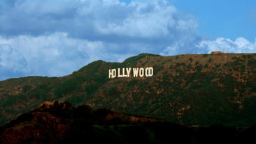 Timelapse Hollywood Sign stock footage