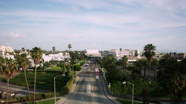 Timelapse Santa Monica intersection Footage