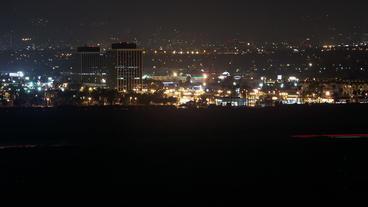 Timelapse Los Angeles skyline Footage