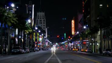 Timelapse El Capitan Theatre traffic Footage