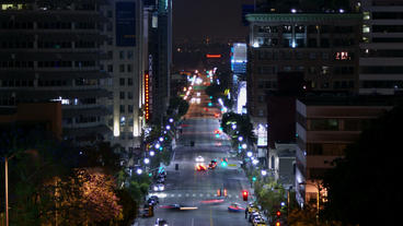 Timelapse Hollywood Traffic stock footage