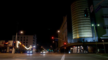 Timelapse Coffee Shop Intersection stock footage