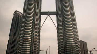 Timelapse Petronas Twin Towers Footage