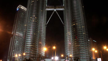 Timelapse Petronas Twin Towers traffic Footage
