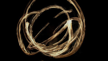 Timelapse fire juggler Footage
