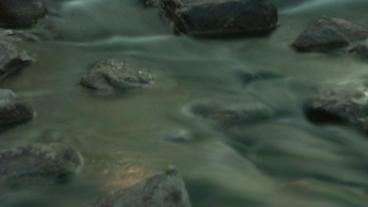 Timelapse rocky stream Footage