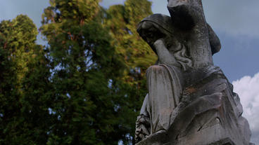 Timelapse Cemetery Statue stock footage