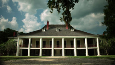 Timelapse Destrehan Manor House stock footage