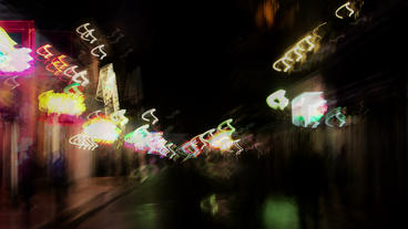 Timelapse French Quarters abstract Footage