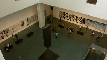 Timelapse museum lobby Stock Video Footage
