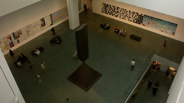Timelapse Museum Lobby stock footage