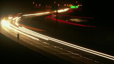 Timelapse Ohio Turnpike traffic Footage