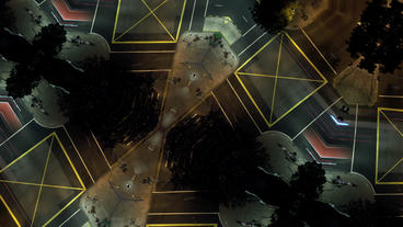 Timelapse intersection kaleidoscope Footage