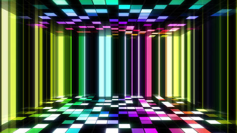 Disco Dance Floor Room B 05 4k Animation