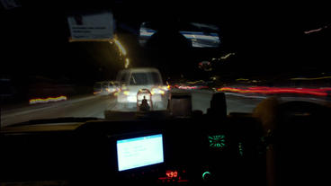 Timelapse Taxi Ride stock footage