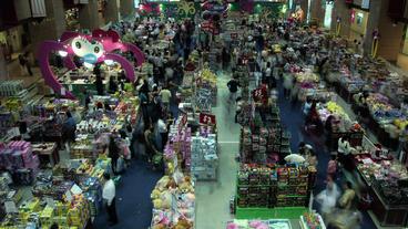 Timelapse Toy Fair stock footage