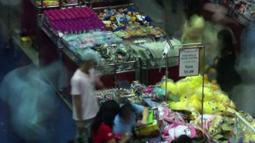 Timelapse toy fair Footage