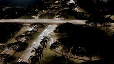 Timelapse expressway crossroad Footage
