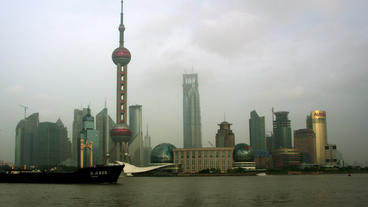 Timelapse Huangpu River skyline Footage